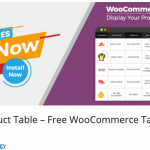 Woo Product Table – Free WooCommerce Table view solution