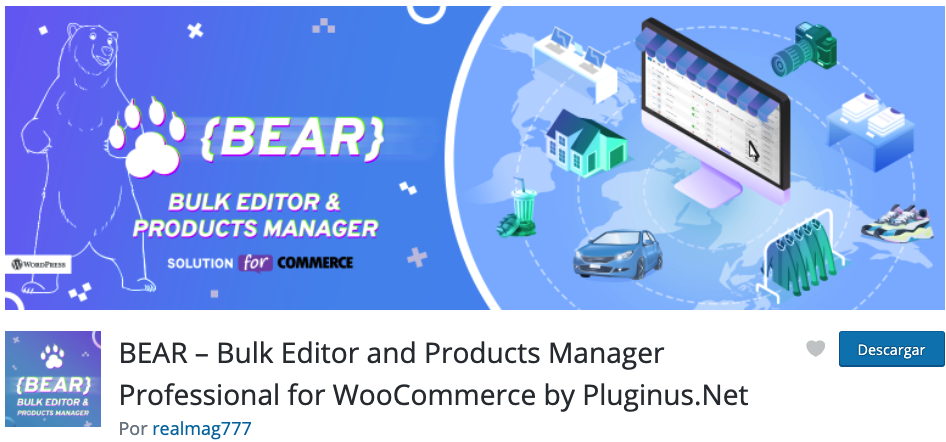 BEAR – Bulk Editor and Products Manager Professional for WooCommerce