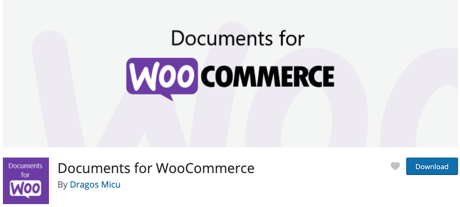 documents for woocommerce