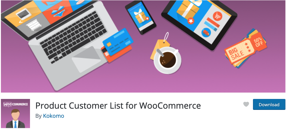 product customer list for woocommerce